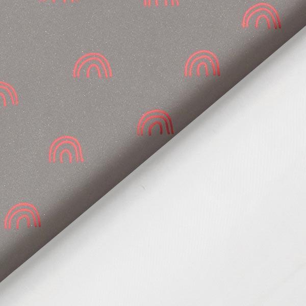 Tissu pour veste de pluie réflecteur arc-en-ciel | by Poppy – argent/rose vif