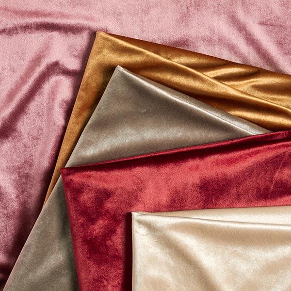 Tissu de décoration Velours – vieux rose