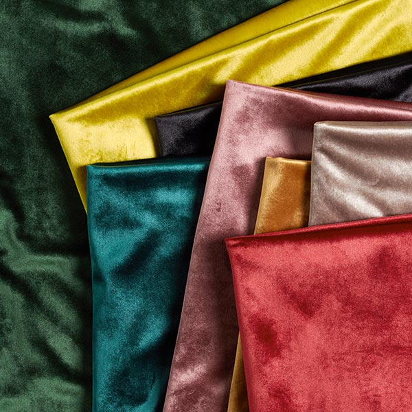 Tissu de décoration Velours – rouge