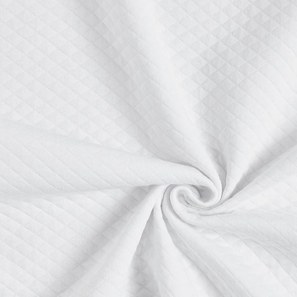 Jersey matelassé – blanc