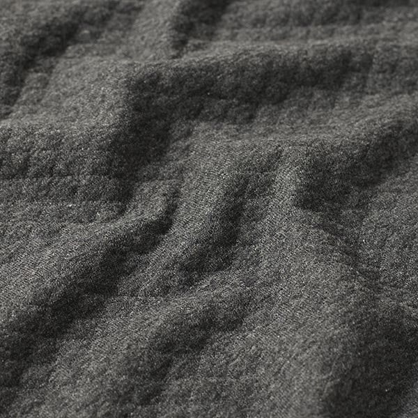 Jersey matelassé – gris foncé