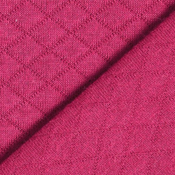 Jersey matelassé – framboise