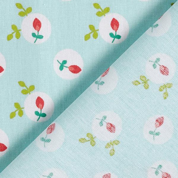 Popeline coton Églantier | by Poppy – vert menthe