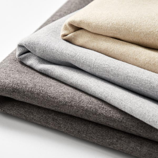 Tissu de décoration et d'ameublement Aspect laine – gris clair