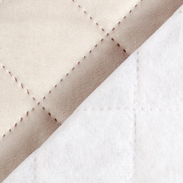 Möbel- und Polsterstoff Samt Steppstoff – beige