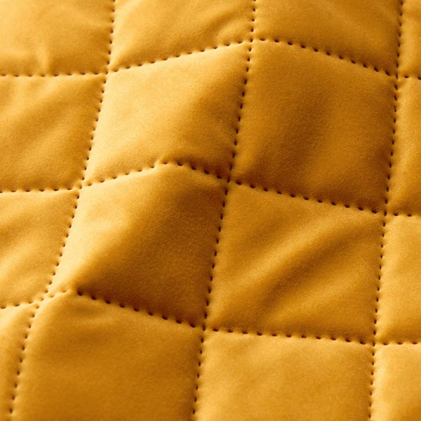 Tissu de décoration et d'ameublement Velours Tissu matelassé – moutarde