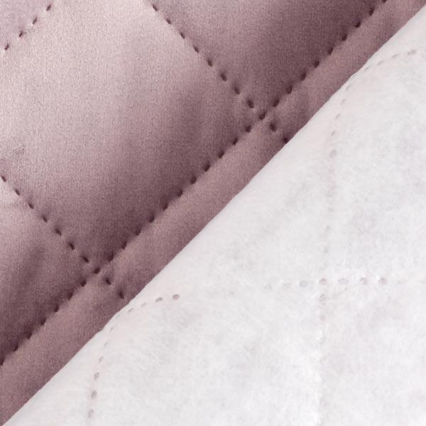 Tissu de décoration et d'ameublement Velours Tissu matelassé – lilas pastel