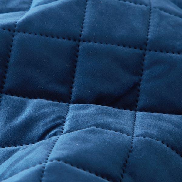 Tissu de décoration et d'ameublement Velours Tissu matelassé – bleu marine