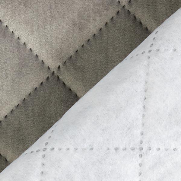 Tissu de décoration et d'ameublement Velours Tissu matelassé  – gris clair