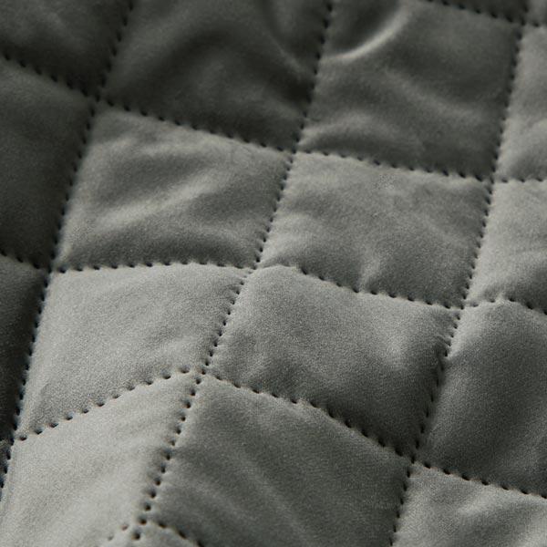 Tissu de décoration et d'ameublement Velours Tissu matelassé – gris foncé