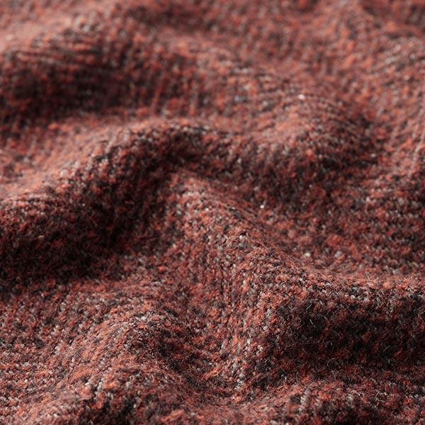 Laine polaire pour manteau Mélange laine vierge et mohair – marron rouge