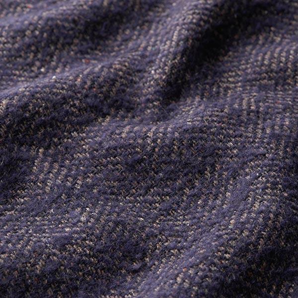 Laine polaire pour manteau Mélange laine vierge et mohair – navy