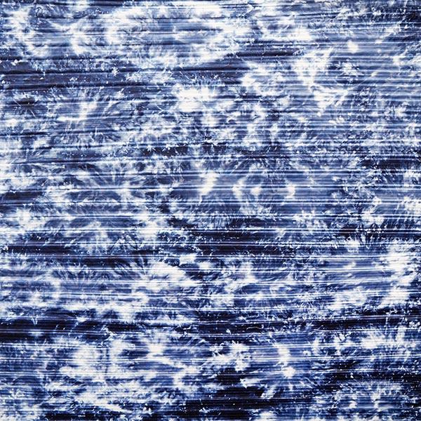 Jersey Plissé Motif Batik – bleu jean