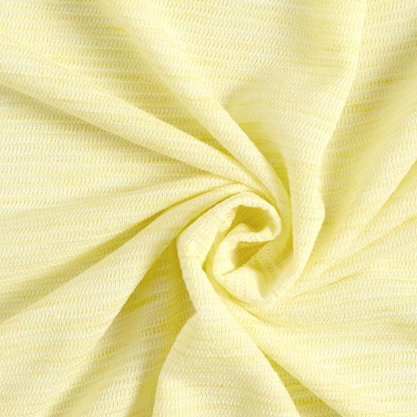 Maille fine mélange rayures en relief – jaune clair
