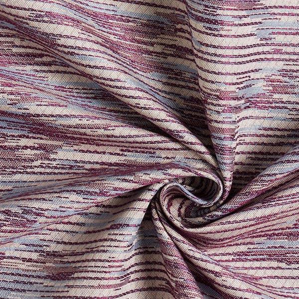 Tissu de rideau ethno Trevira CS ethno rayures – rouge bordeaux
