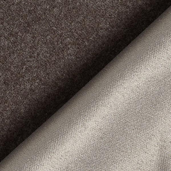 Tissu de revêtement aspect laine – marron foncé