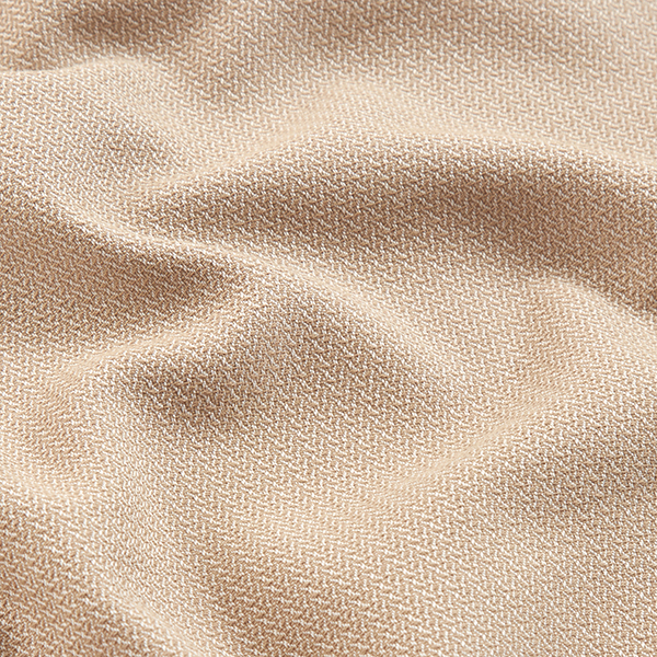 Stretch en coton Aspect torsades – beige