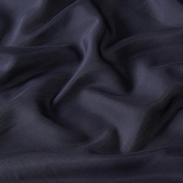 Tissu voile en coton et soie super léger – bleu marine
