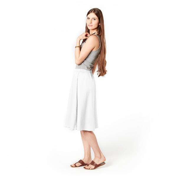 Tissu en lin stretch Mélange – blanc