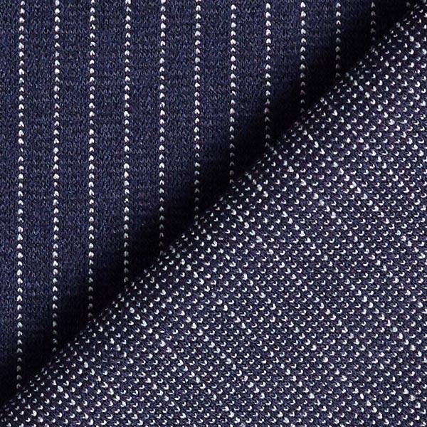 Stretch pantalon Rayures fines Mince – bleu marine