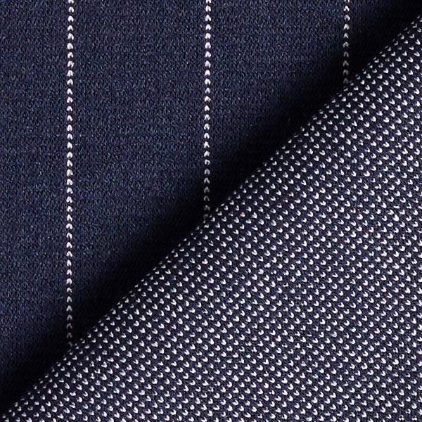 Stretch pantalon Rayures fines Large – bleu marine
