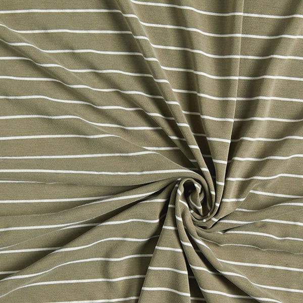Jersey single Modal Rayures – olive