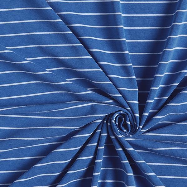 Jersey single Modal Rayures – bleu roi