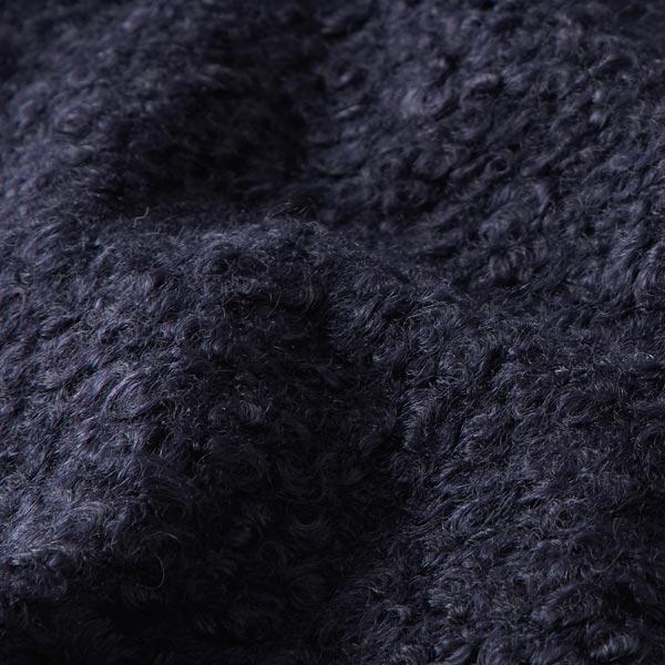 Tissu tricoté boucles – bleu marine