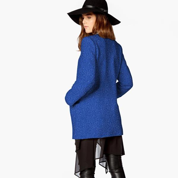 Tissu tricoté boucles – bleu roi