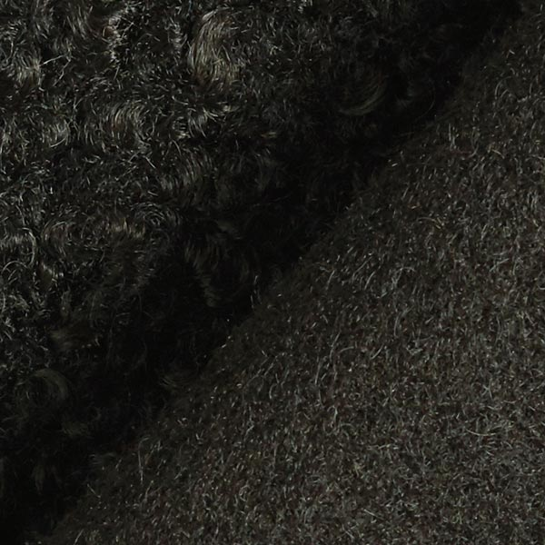 Tissu tricoté boucles – noir