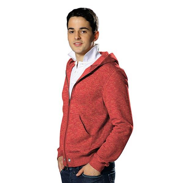 Sweatshirt gratté Chiné – rouge-orange