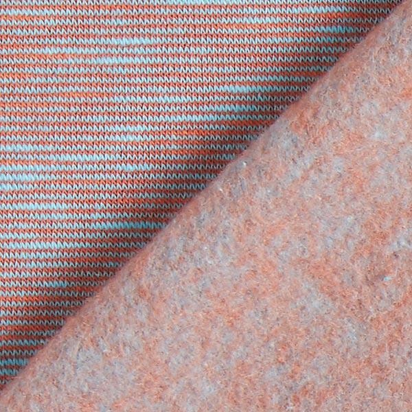 Sweatshirt gratté Chiné – orange/bleu clair