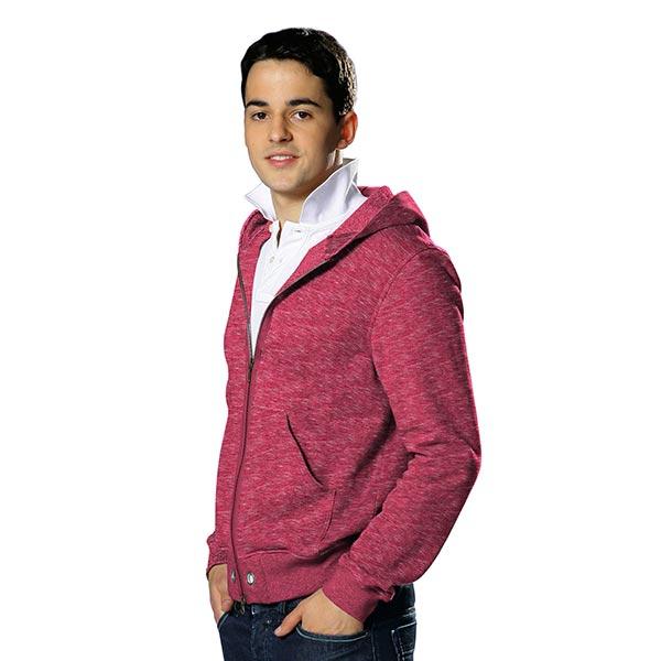 Sweatshirt Chiné – rose vif