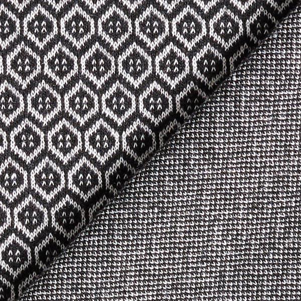 Stretch pantalon Mélange motifs Alvéoles – noir/blanc