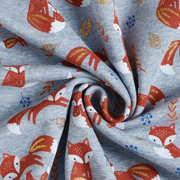Alpenfleece Glitzerfuchs – hellblau/terracotta