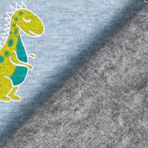 Alpenfleece Dino – hellblau/helloliv