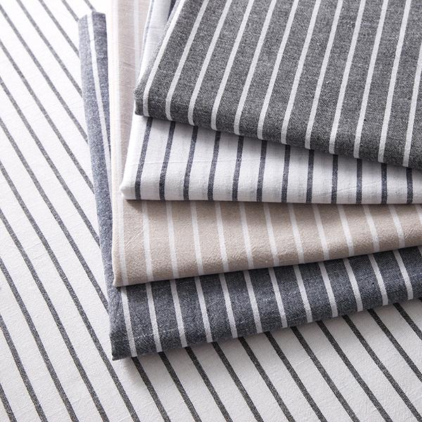 Tissu pour chemisier Aspect lin Rayures verticales – écru/noir