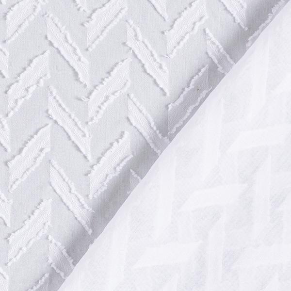 Chiffon Dobby Zigzag – blanc