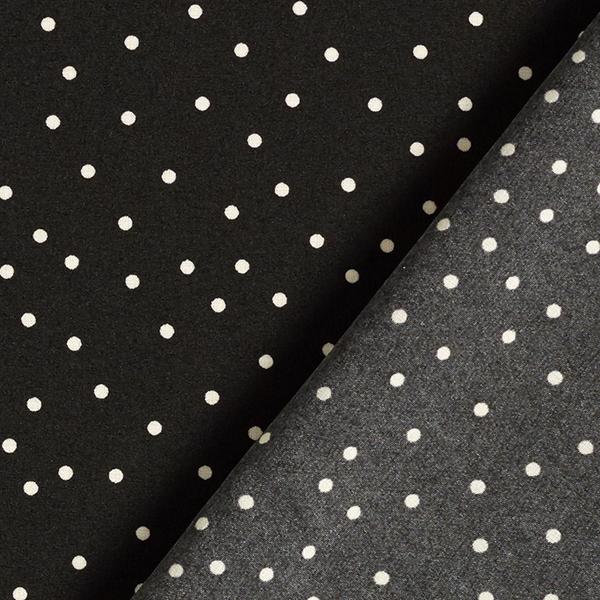 Tissu pour chemisier Stretch Petits points – noir/blanc