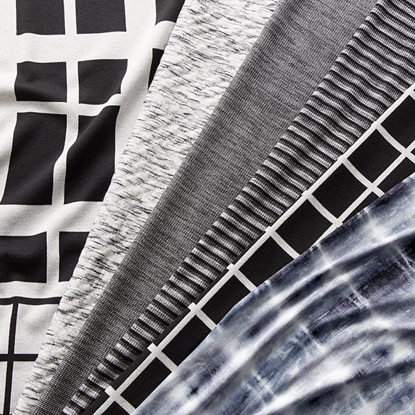 Jersey viscose Motif Batik – anthracite