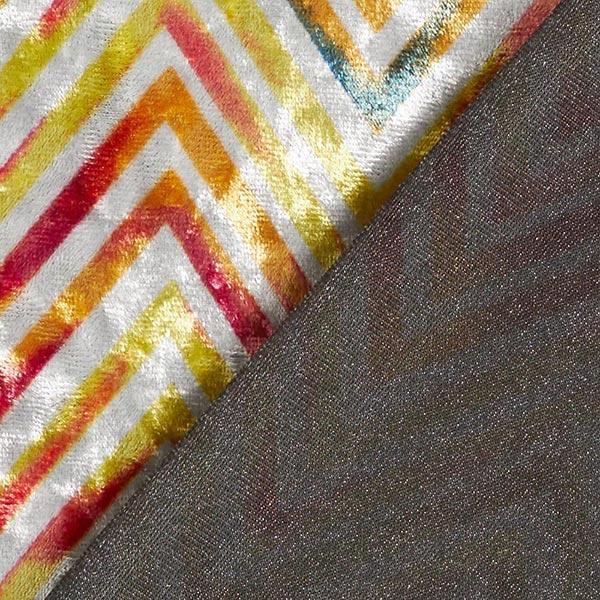 Panne de velours Zigzag – orange