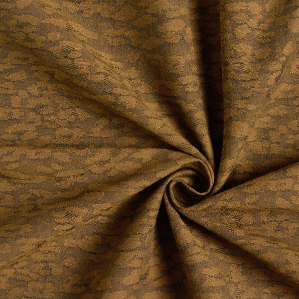 Tissu de pantalon Jacquard stretch Léopard – ocre