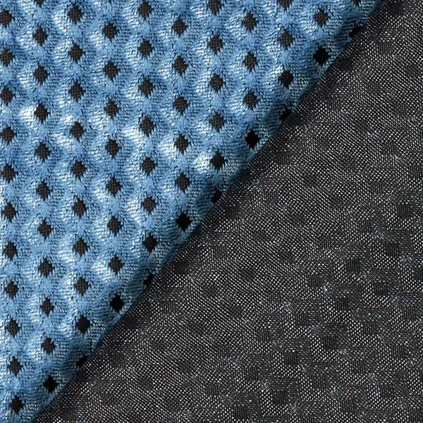 Panne de velours Dévoré Losanges – bleu pigeon