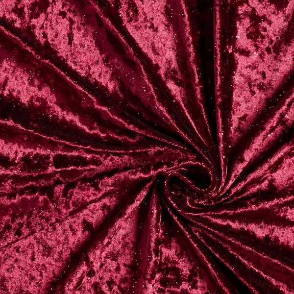 Panne de velours Mouchetures scintillantes – rouge bordeaux