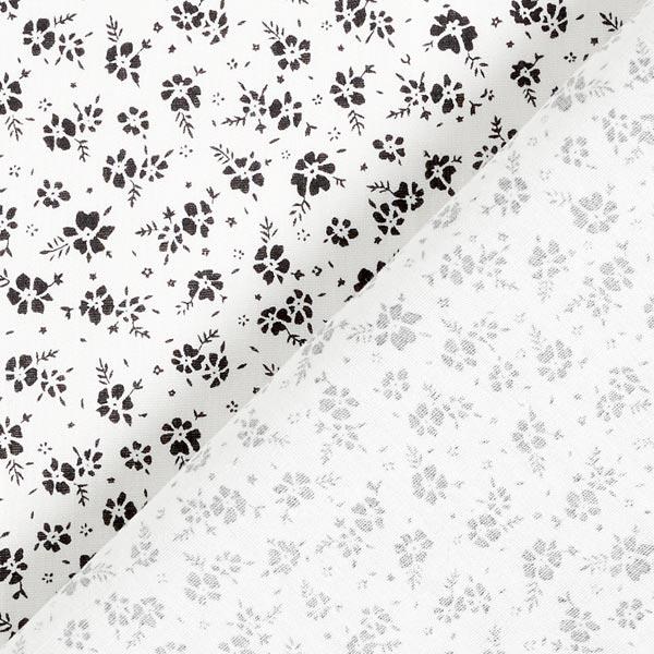 Tissu en coton Popeline Petites roses – écru