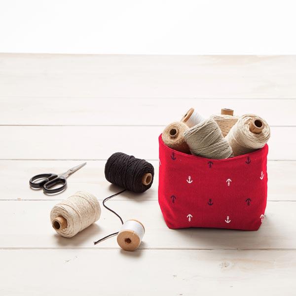 Tissu en coton Popeline Petite ancre – rouge