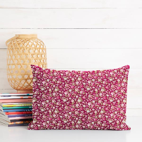Tissu en coton Popeline Haie de roses – baies