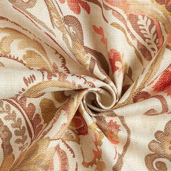 Tissu de décoration et d'ameublement Babel – écru/terre cuite