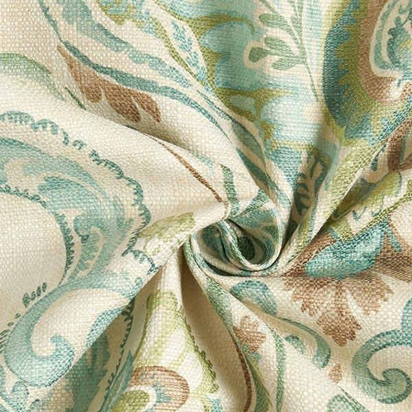 Tissu de décoration et d'ameublement Babel – écru/vert pastel