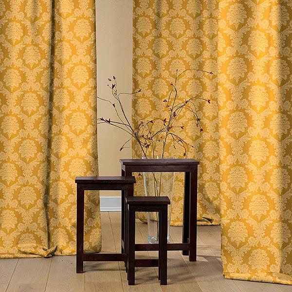 Tissu de décoration Jacquard Damasco 280 cm – or